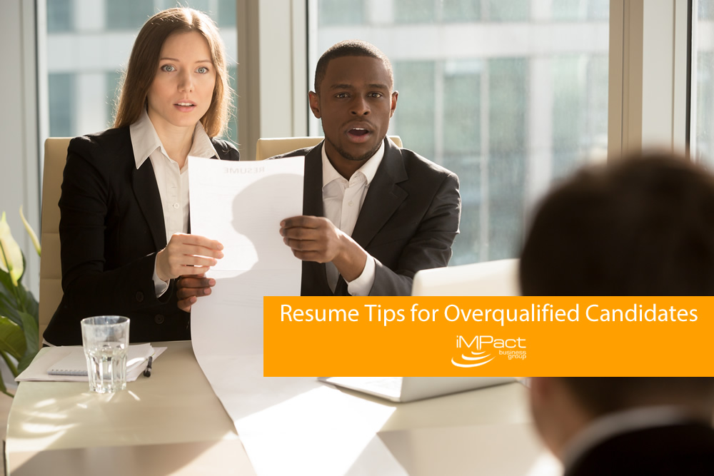 resume tips for overqualified candidates